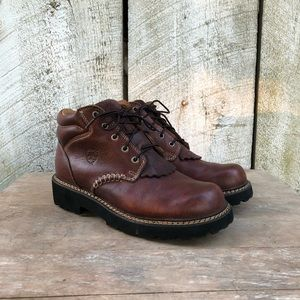 Ariat   brown leather Canyon ankle boots